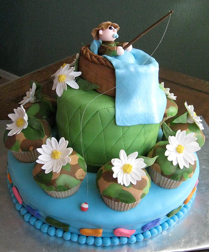 Camo Baby Boy Cake
