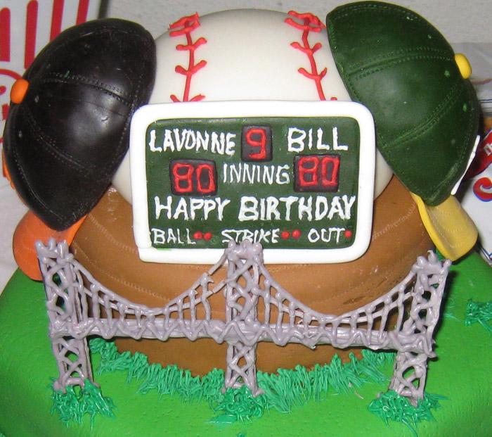 Baseball Teams Cake