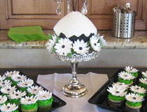 Gerber Daisy Cupcakes