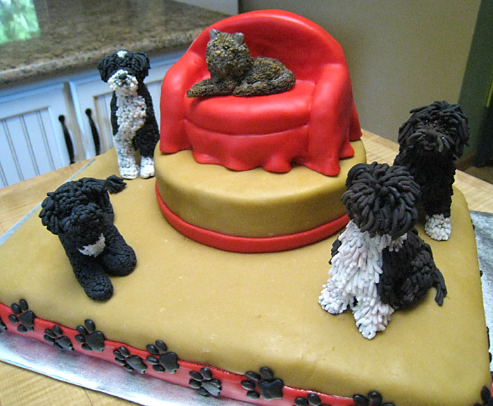 Dogs & Cat Cake A Creative Touch