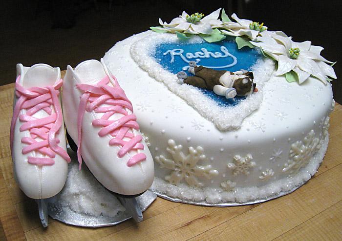 Ice Skate Cookie Cake