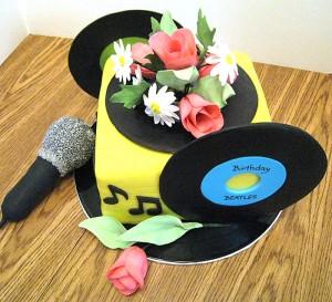 karaoke cake top view