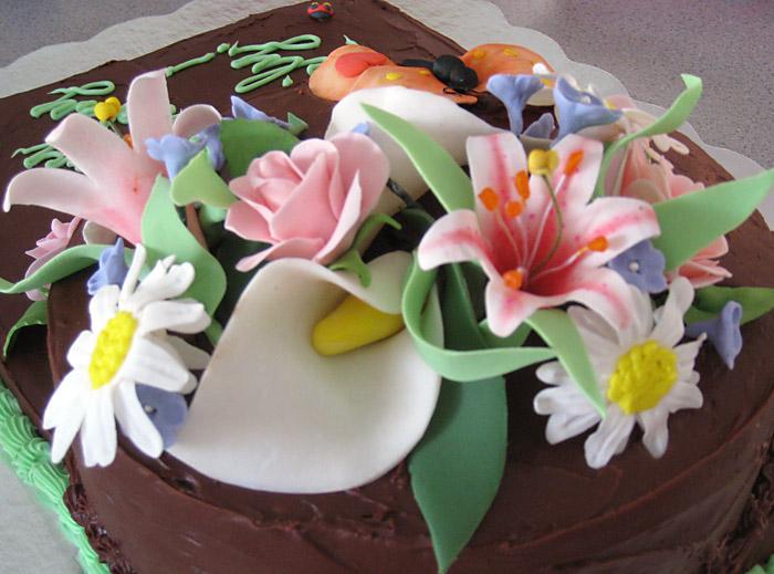 Floral Chocolate Cake