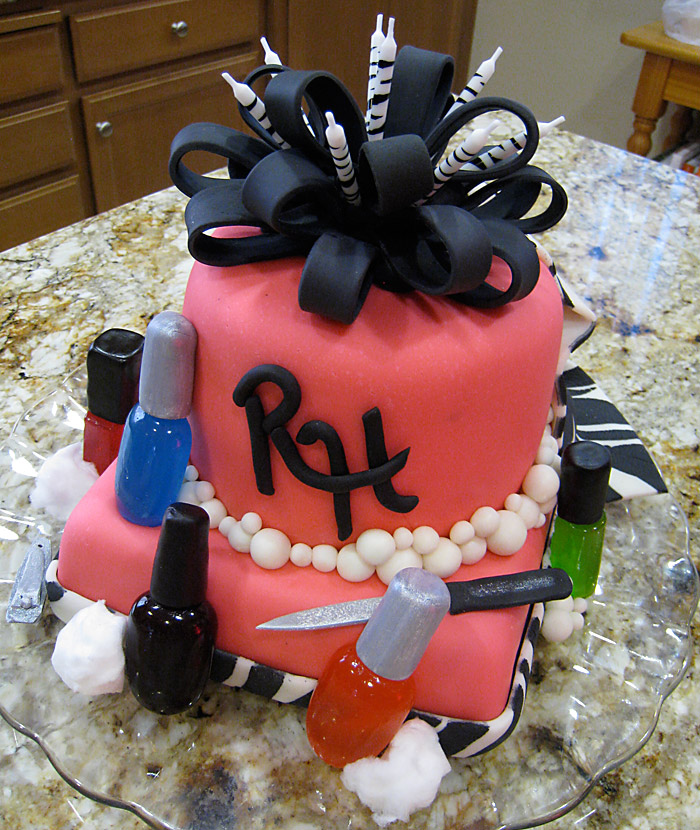 Spa Party Cake A Creative Touch