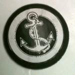 decoupaged anchor knob