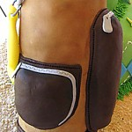 Zippered golf bag pockets on cake