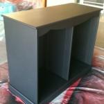 Black sprayed cabinet