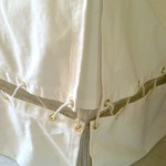 nautical laced crib skirt