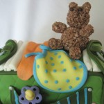 Diaper Bag Cake top view