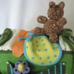 Diaper Bag Cake top view