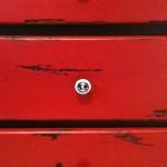 dresser drawer with knob closeup