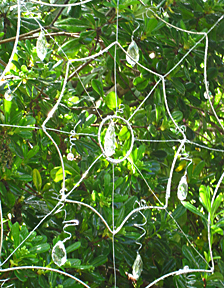 Wire garden spider web and crystal light-catcher