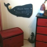 toy box and whale chalkboard