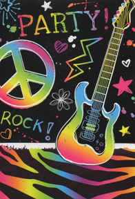 rock n roll birthday invitation