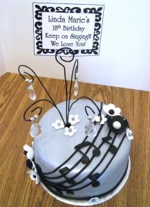 music cake topper