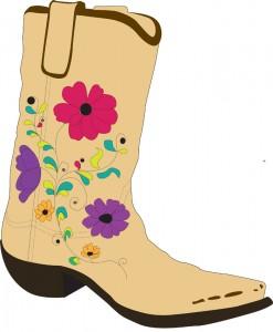 Bridal shower cowboy boot cake idea