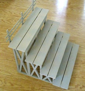 mini bleachers for baseball party