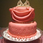 Pretty in Pink Princess Cake