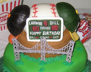San Francisco Giants and Oakland A's Fan cake