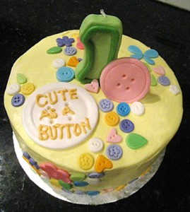 Top of the Cute-as-a-Button cake