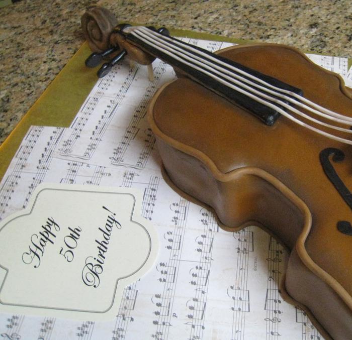 Birthday Cello Cake