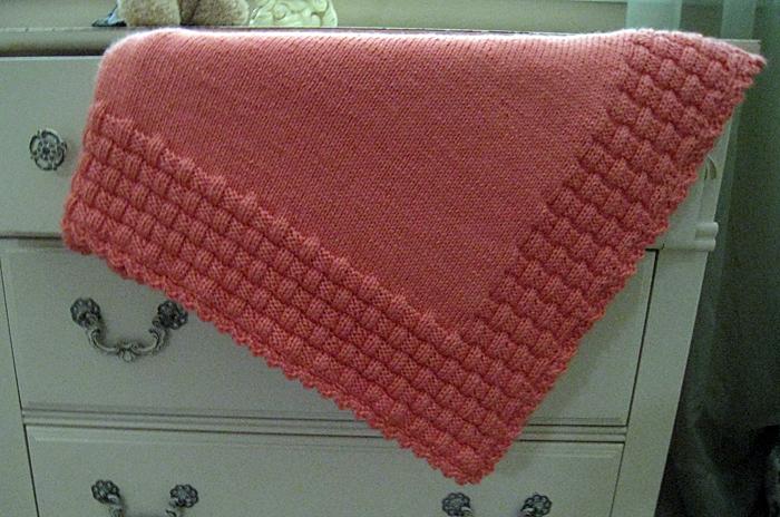 Blanket with Basketweave Border