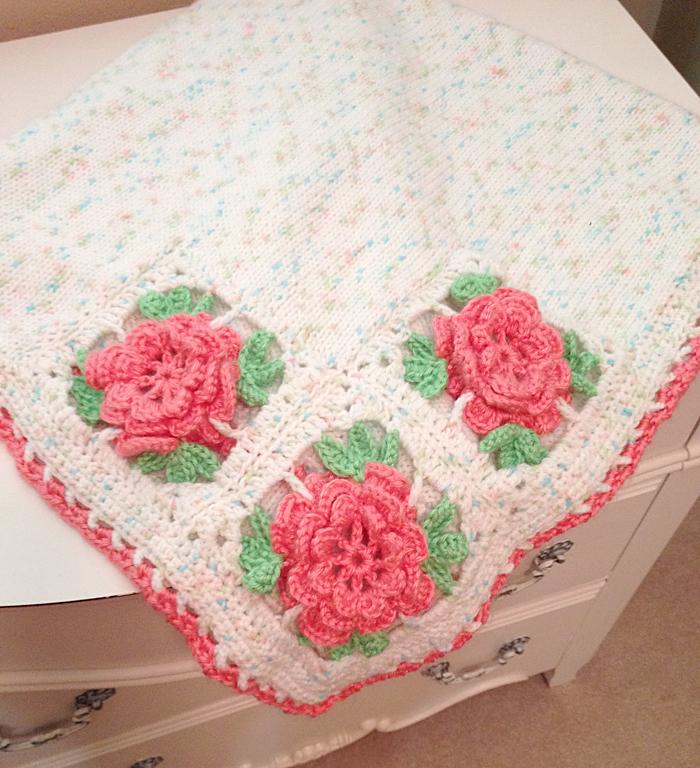Baby Rose Blanket