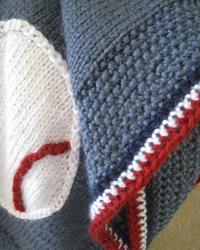 All American Baseball Baby Blanket