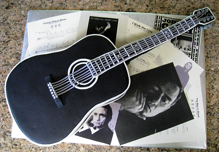 Johnny Cash Guitar Cake
