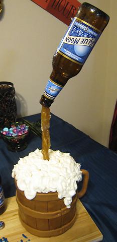 Floating Beer Bottle Cake