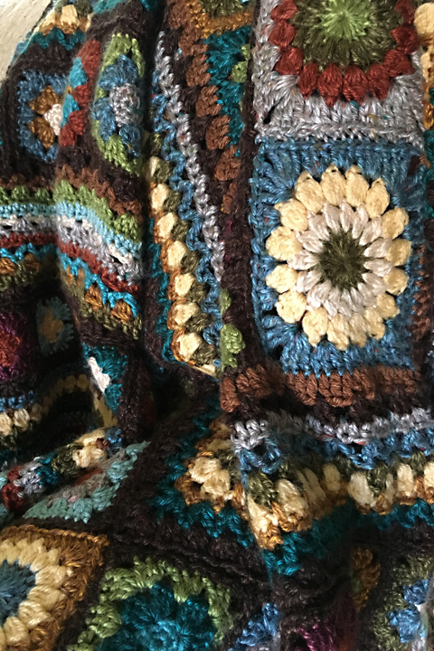Colorful Granny Square Afghan