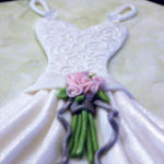Watercolor Bridal Gown Cake