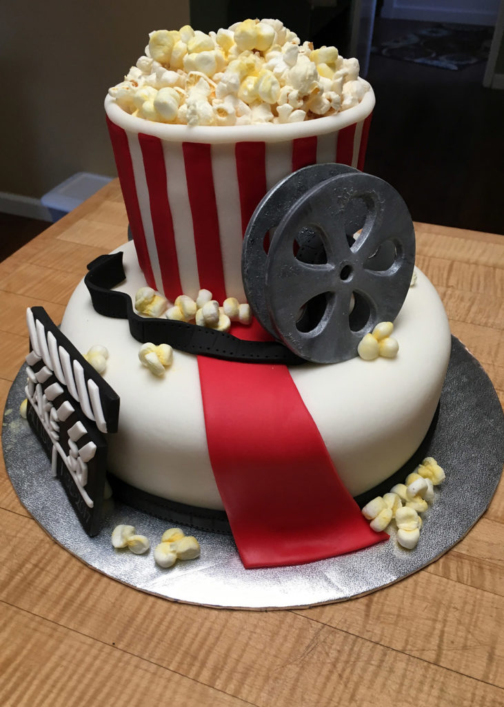Film Making cake for 30-year-old!