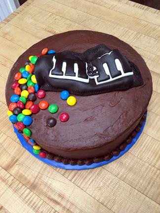 M&M Chocolate Cake