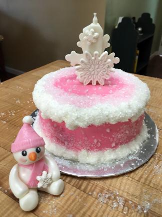 Winter Birthday in Pink