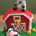 A Farm Theme Cake for Twins