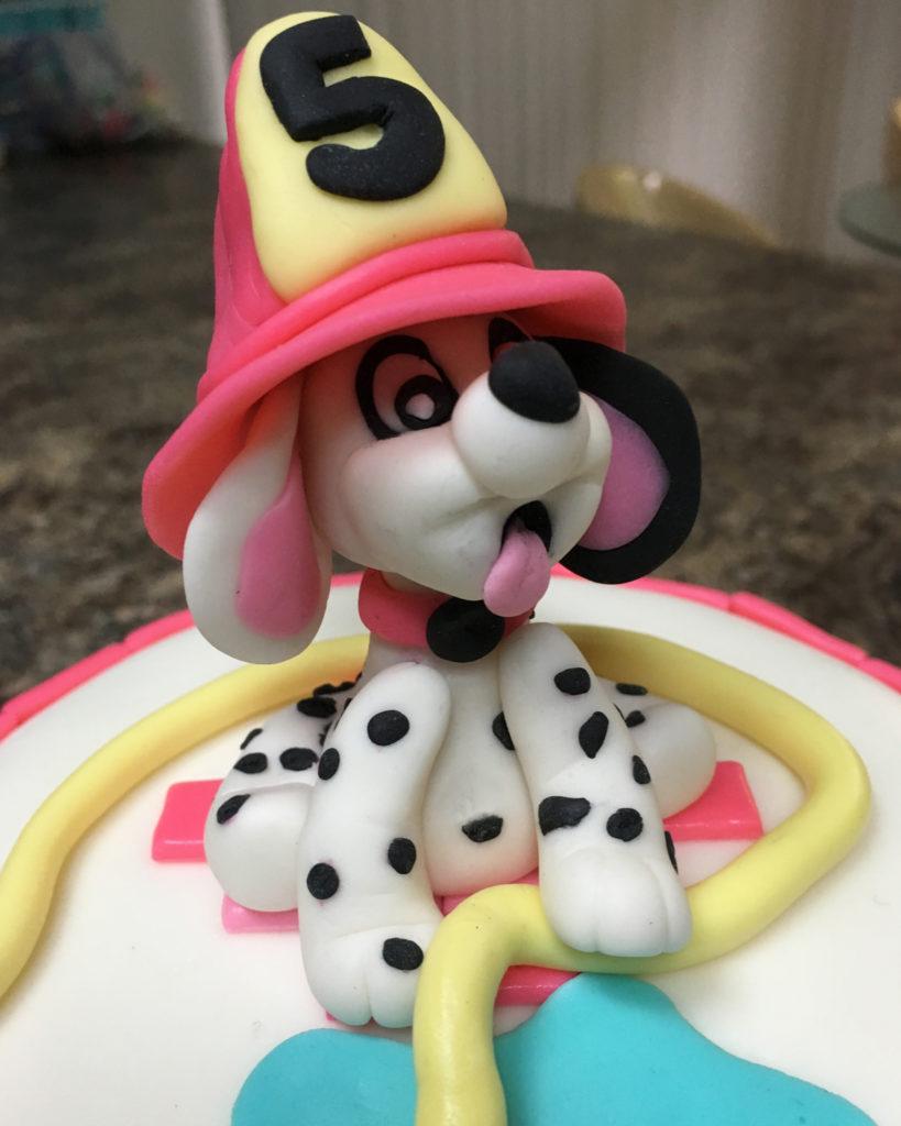Dalmatian Fire Cake
