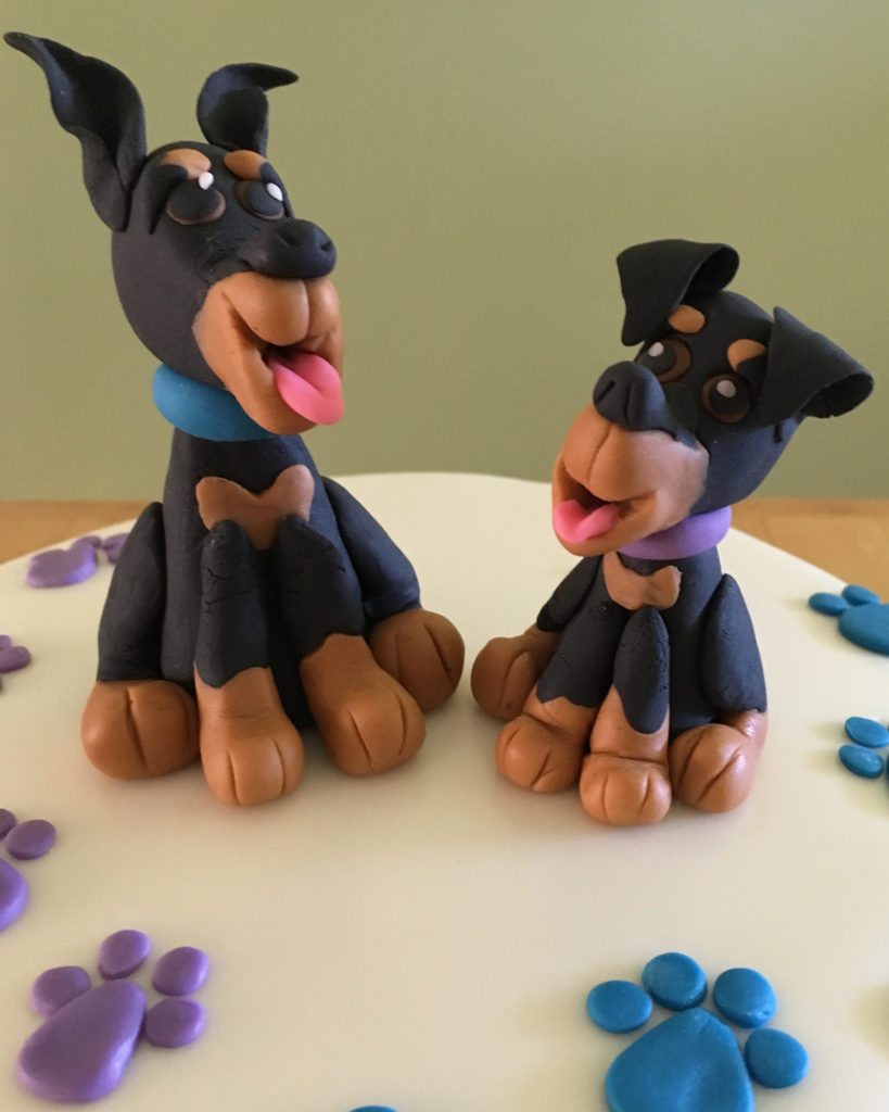 Sgt. Shultz and Lola Granola Birthday Cake