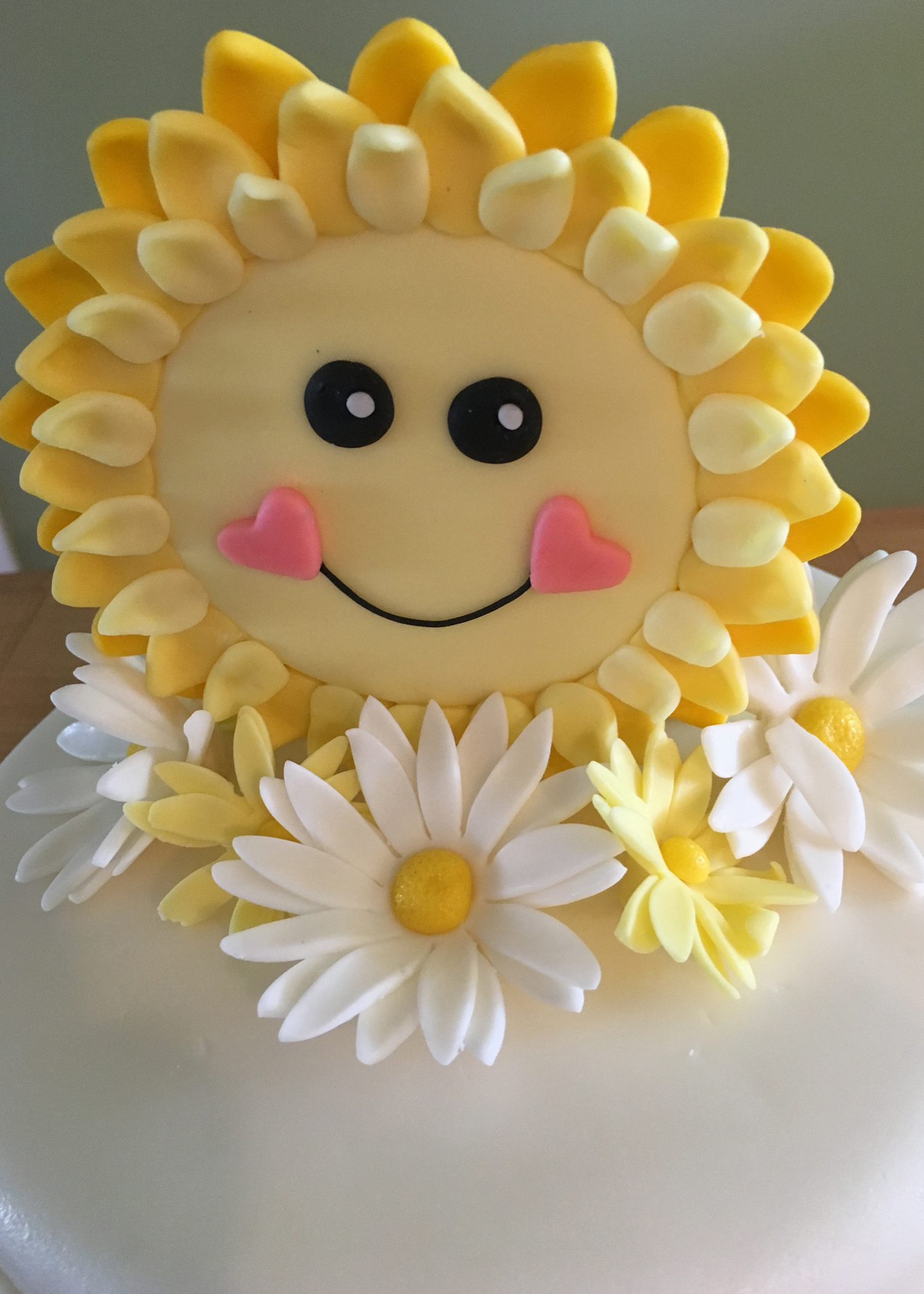 Sunshine and Daisies 1st Birthday Cake